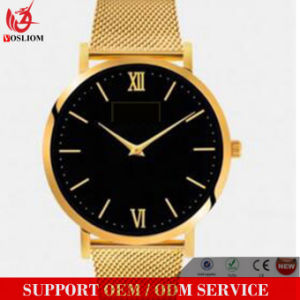 Yxl-062 New Design Mesh Steel Watch Men Good Quality Leather Charming Wrist Watch Business Men′s Watches pictures & photos