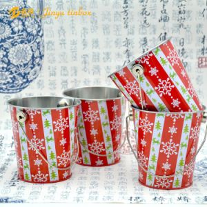 Bucket Shaped Tin Cartoon Kids Students Pen Holder pictures & photos