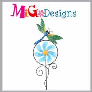 Elegant Ladybird Windmill Garden Stake Hand-Printing Metal Stake pictures & photos