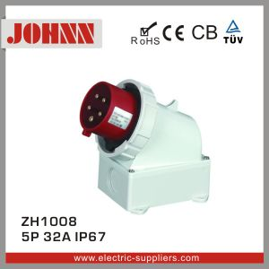 IP67 5p 32A Wall Mounted Plug for Industrial pictures & photos