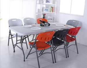 HDPE Round Folding Table and Chair Outdoor Furniture pictures & photos