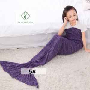 90cm*50cm Crochet Mermaid Tail Blanket Soft Sleeping Bag Knitted Blanket pictures & photos