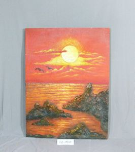 Seaside Sunset Pattern of Home Canvas Hanging Paintings