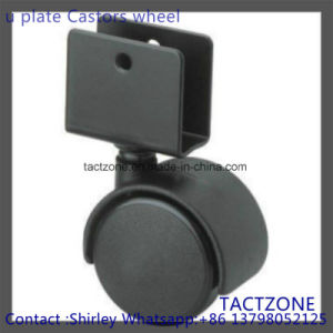 W/U Clip Nylon Black Furniture Hardware Wheels for Shopping Cart pictures & photos