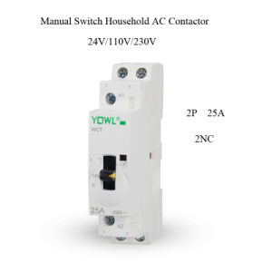 2p 25A Ict Manual Control Household DIN Rail AC Contactor pictures & photos