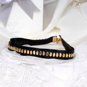 2017 Europe Fashion Alloy and Soft Leather Choker Necklace pictures & photos