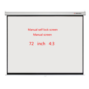 Manual Screen of Hand Pull Screen with Manual Locking Screen
