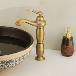 Hot Antique Bronzewaterfall Wash Basin Mixer Faucet (6605A) pictures & photos