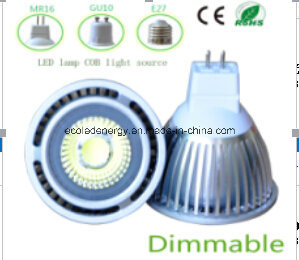 Ce and Rhos Dimmable MR16 3W COB LED Light pictures & photos