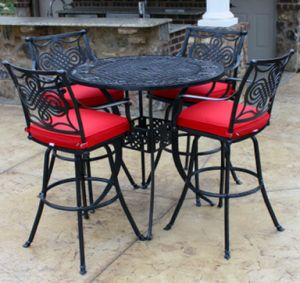 High Dining Set Outdoor Cast Aluminum Furniture pictures & photos
