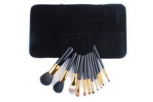 11 Pieces Black Peony Series High Quality Noble Animal Hair Makeup Brush pictures & photos