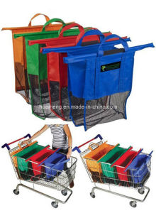 Folding Trolley Bag Supermarket Non Woven Shopping Bag