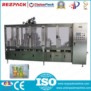 Automatic Linear Plastic Cup Fill and Seal Machine (RZ-D) pictures & photos