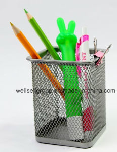 2015 Hot Sale Metal Mesh Square Pen Holder /Pencil Holder pictures & photos