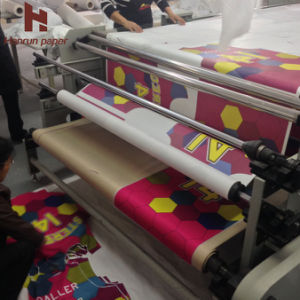 30GSM Sublimation Heat Transfer Tissue Paper on Rotary Calander/ Roller Heat Press Machine