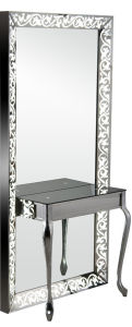 Full-Length Single Side Carving Lighted Salon Mirror Station (MY-B050) pictures & photos