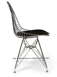 Modern Restaurant Knock Down Wire Metal Eames Side Chair pictures & photos