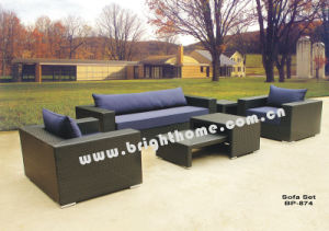 Aluminum PE Rattan Wicker Sofa Set Outdoor Furniture Bp-874 pictures & photos