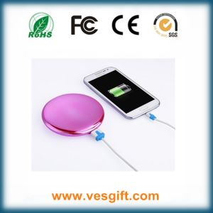 Cosmetic Mirror Fashion Design Power Bank External Battery pictures & photos