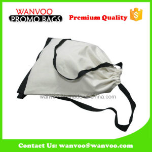 Fashion Eco Blank Cotton Canvas Drawstring Travel Backpack Bag pictures & photos
