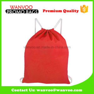 Red Nylon Bag Drawstring Shoe Backpack Packaging pictures & photos
