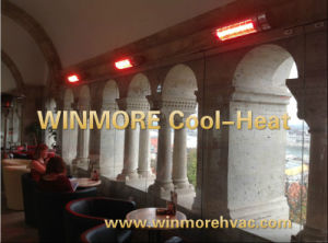 Open Air Restaurants/Open Area/Office/Outdoor Infrared Heater Remote Control with Gold Lamp pictures & photos