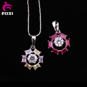 Colorful Cheap White Gold Plated Gemstone Pendant pictures & photos