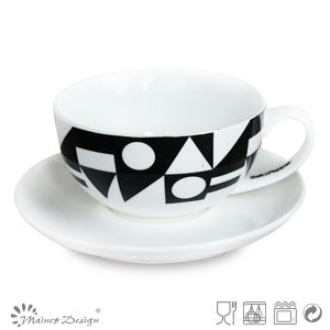 8oz Tea Set with Black Decal Design pictures & photos
