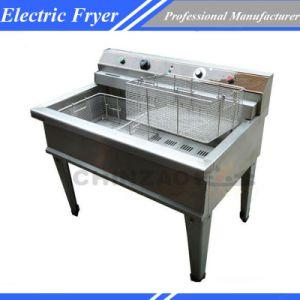 Electric Fryer Double Tank Deep Fat Frying Machine Dzl-76b pictures & photos