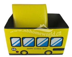 Carton Fashion PU Storage Stool for Kids