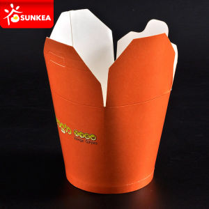 Disposable Chinese Paper Food Pails with Handle pictures & photos