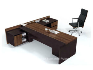 Modern High Quality L Shape Wooden Executive Boss Table (HF-TWB105) pictures & photos