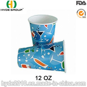 12oz Single Wall Soda Drink Paper Cup with Logo (HDP-2003) pictures & photos