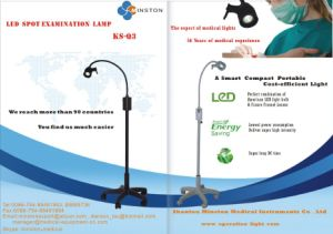 LED Examination Lamp Ks-Q3, Spot Examination Light, Black Mobile Type for Gp Practices, E. N. T., Ophthalmology, Gynaecology, Small Theatre, Minor Operation Use