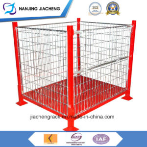 Foldable and Stackable Storage Rigid Metal Weld Wire Cage Pallet pictures & photos