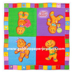 Candy Land Luncheon Paper Napkins Catering Tableware Party Supplies pictures & photos