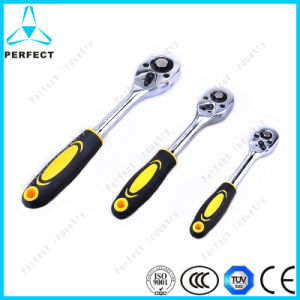 Anti-Slip Rubber Handle Ratchet Wrench pictures & photos