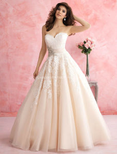 2016 New Design Sweetheart Lace Bridal Ball Gown Wedding Dress pictures & photos
