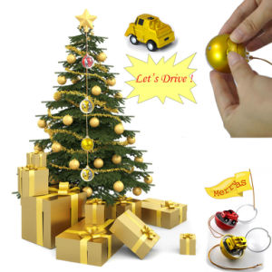 Children Jump Christmas Ball Shape 1/56th Scale Mini Remote Control Toy Car pictures & photos