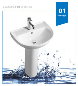 Weidansi Ceramic Wash Pedestal Basin Wash Sink (WDS-P7203) pictures & photos