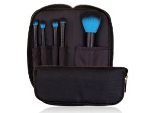 5PCS Two-Tone Makeup Brush Set Cosmetic Brush with Zipper Pouch pictures & photos