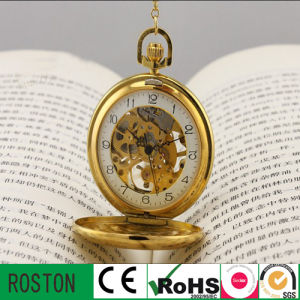 Hot Sell Hollow out Mechanical Pocket Watch