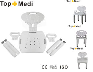 Topmedi Bathroom Safety Whole Chair Detachable Plastic Shower Chair pictures & photos