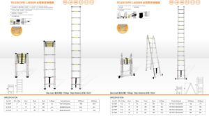 Hot Sale a Type Telescopic Ladder pictures & photos