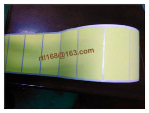 Production of Various Kinds of Thermal Paper Yellow Sticker pictures & photos