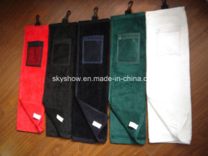 100% Cotton Golf Towel with Pocket (SST1018) pictures & photos