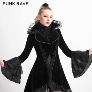 Y-622 Gothic Style Velvet Flare Sleeve Winter Coat Wardrobe pictures & photos