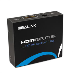 Mealink 1 in 2 out 1X2 HDMI Splitter 1.4V with Uhd 4k+3D+Ethernet pictures & photos