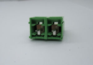 9.5mm PCB Termiinal Block with 2p Green Color Straight pictures & photos