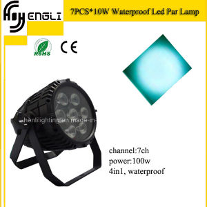 7PCS RGBW 4in1 LED PAR Lcan for Show (HL-032) pictures & photos